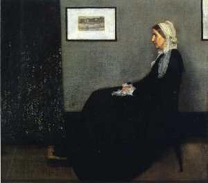灰色和黑色的排列 . 人像 Painter's 母亲