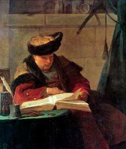 Portrait du peintre Joseph Aved, dit aussi Le Souffleur