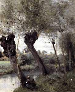 Saint-Nicholas-les-Arras; Willows on the Banks of the Scarpe