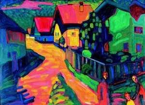 Street in Murnau with Women