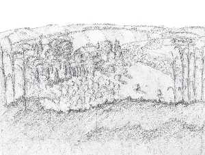 Sketch of countryside