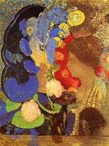 Woman among the Flowers
