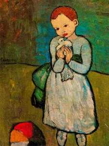 Child with a pigeon