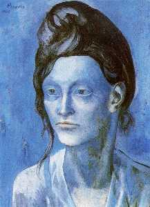Mujer con casco de pelos