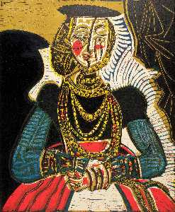 Seated Woman (after Cranach)