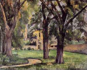 Chestnut Tree and Farm at Jas de Bouffan