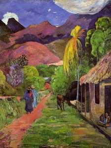 Road in Tahiti