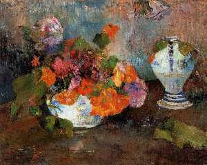 Vase of Nasturtiums