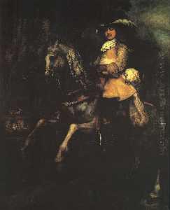 Frederick Rihel on Horseback