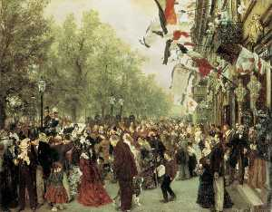 William I Departs for the Front, July 31, 1870