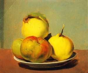 Dish of Apples and Quinces