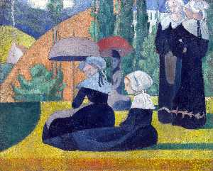 Breton Women with Parasols