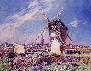 Windmills near the Town of Batz