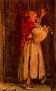 Spanish girl with pitcher