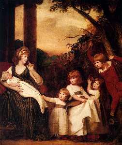 Portrait Of Charlotte Bosanquet With Her Five Elder Children