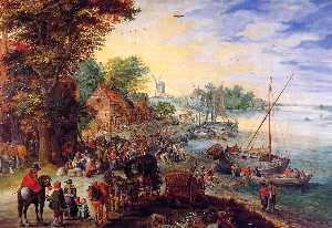 Fish Market on the Banks of the River