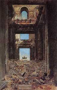 The Ruins of the Tuileries Palace after the Commune of 1871