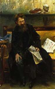 Portrait of the Poet Peter Hille