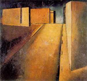Summary of landscape - Mario Sironi