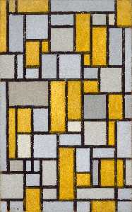 Composition in Grey and Ochre
