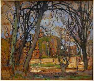 Spring Sun (Lentezon). Castle Ruin. Brederode