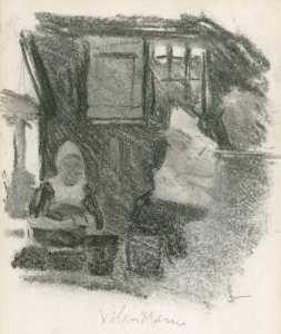 Study of two women in an interior, Volendam