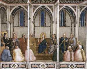 cristo fra i dottori ( Transetto settentrionale , bassa chiesa , san francesco , Assisi )
