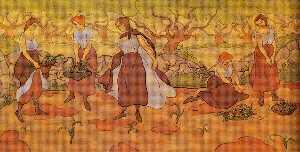 Cinq femmes à la récolte