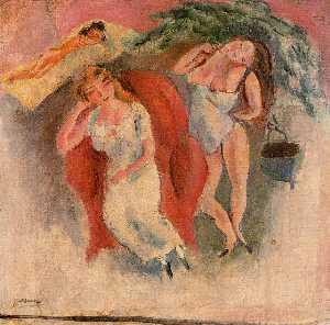 Composition with Three Women - Julius Mordecai Pincas