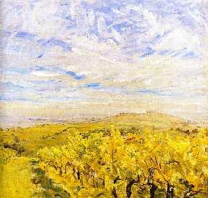 Early Autumn in the Palatinate - Vineyards near Neukastel