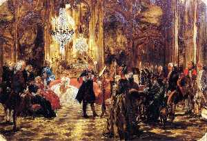 The Flute Concert at Sanssouci (sketch) - Adolph Von Menzel
