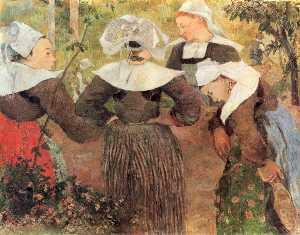 Four Breton Women (also known as Breton Women Chatting)