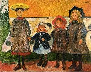 Four girls in Arsgardstrand