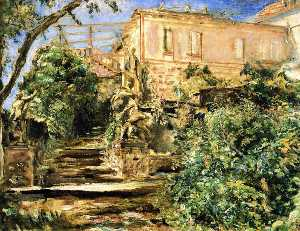 The Garden at Neukastel with the LIbrary