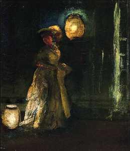 Girl with Japanese Lanterns