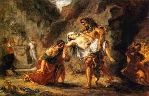 Hércules Traer Alcestis Volver del Inframundo