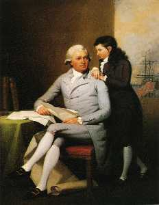 Jeremiah Wadsworth and His Son Daniel Wadsworth