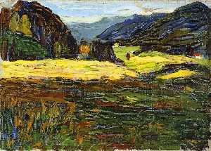 Kochel - Landscape with Manor