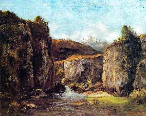 Landscape: The Source among the Rocks of the Doubs