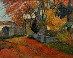 Lane at Alchamps, Arles (also known as Les Alychamps, Falling Leaves)