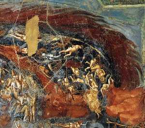 giudizio finale ( particolare 13 ) ( cappella degli scrovegni ( cappella arena ) , Padova )