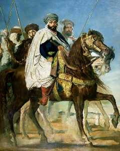Le Calife de Constantine Ali Ben Ahmed (also known as The Caliph of Constantine Ali-Hamed Followed by his Escort) - Théodore Chassériau