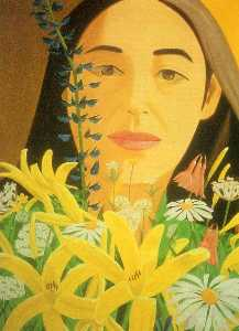 Ada with Flowers