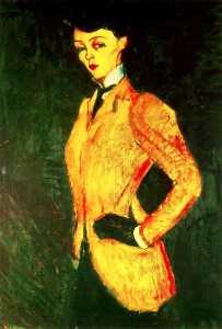 Woman in yellow jacket (Amazon)