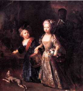 Frederick and his sister Wilhelmina