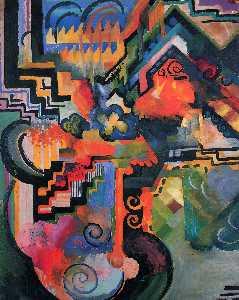 Colored composition (Hommage to Johann Sebastian Bachh)
