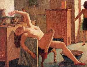 Nude with Cat