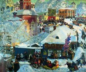 Winter. Shrovetide festivities