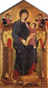 Madonna Enthroned with the Child and Two Angels