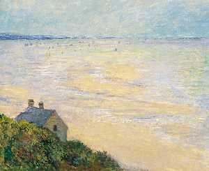 The Hut at Trouville, Low Tide